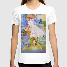 Girl and bicycle T-shirt