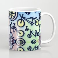 bikes Mugs featuring Bikes by JustinPotts