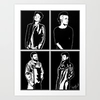 1975 Art Prints featuring 1975. by Spazy Art