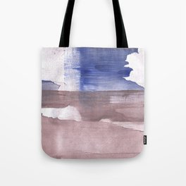 Beige Blue abstract watercolor texture Tote Bag