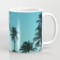 palm trees Mugs featuring Palm Trees by Whitney Retter