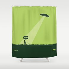 WTF? Ovni! Shower Curtain