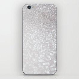 Silver ice - glitter effect- Luxury design iPhone Skin