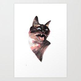 Siamese being a Siamese Art Print