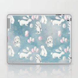 Bunnies Bunny in heaven-Cute Animal illustration pattern Laptop & iPad Skin