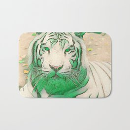 Green Tiger Bath Mat