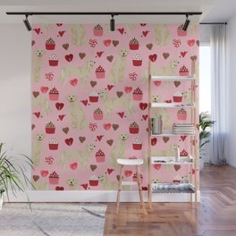 Golden Retriever cute valentines day must have dog gifts pet portraits custom dog lover valentines Wall Mural