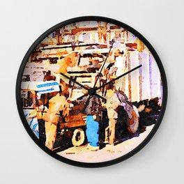 Aleppo: garbage collectors Wall Clock