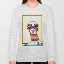JennyMannoArt Colored Illustration/Sheila Long Sleeve T-shirt