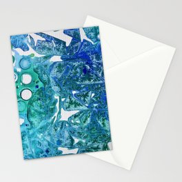 Sea Leaves, Environmental Love of the Ocean Blue Stationery Cards