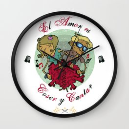 Love is to Sew and Sing / El Amor es Coser y Cantar Wall Clock