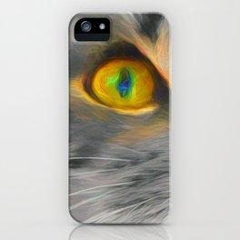 Big gray cat iPhone Case