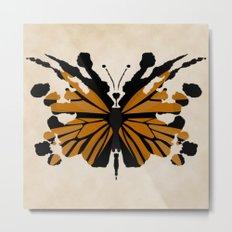 Rorschach Monarch Metal Print