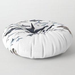 Dolphin diversity Floor Pillow