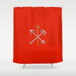 Flag of Saint Petersburg / Санкт-Петербу́рг Shower Curtain