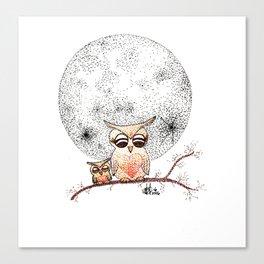 Owl's Sun Canvas Print