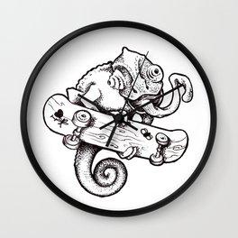 chameleon skate Wall Clock