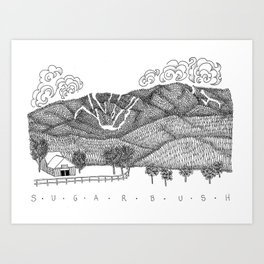 Zentangle Sugarbush, Vermont Art Print