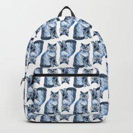 Grey cat watercolour Backpack