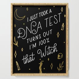 Truth Hurts Witch - Black and Gold Serving Tray