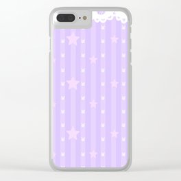 Kawaii Purple Clear iPhone Case