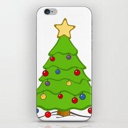 Xmass tree iPhone Skin