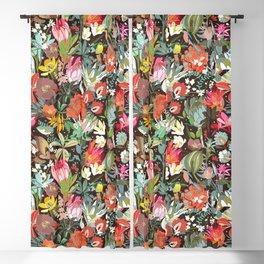 Floral maximalism Blackout Curtain