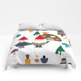 Gnome white Comforters