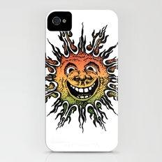 sun face - rasta iPhone (4, 4s) Slim Case