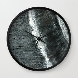 Black Sands of Iceland (2) Wall Clock