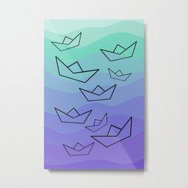 Paper Boat Metal Print