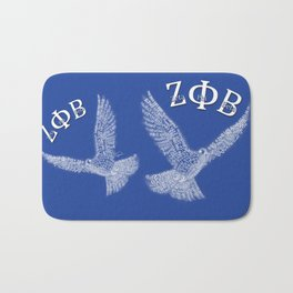 Zeta Phi Beta Dove (Blue) Bath Mat