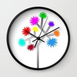 Joshua Tree Pom Poms by CREYES Wall Clock