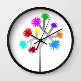 Joshua Tree Pom Poms by CREYES Wall Clock
