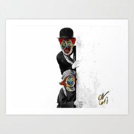 The Kid Street Art Graffiti Art Print