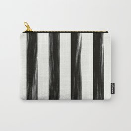 Strong Black Painted Stripes Carry-All Pouch