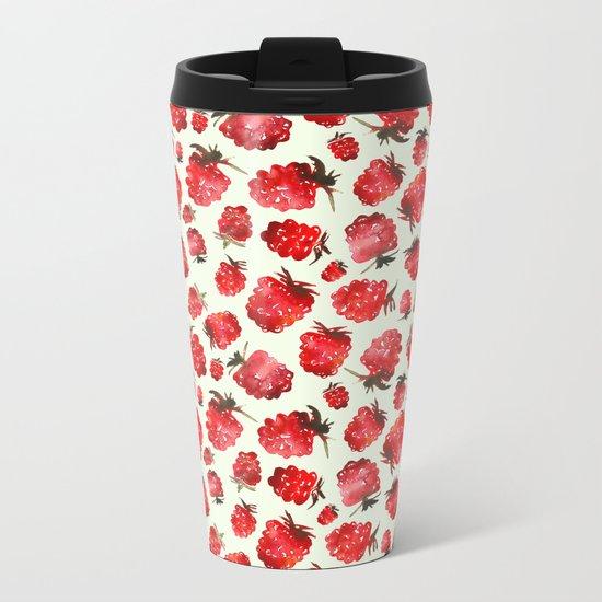 Raspberry vibes Metal Travel Mug