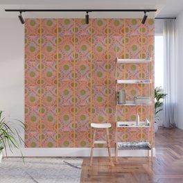 orange amalfi tiles Wall Mural