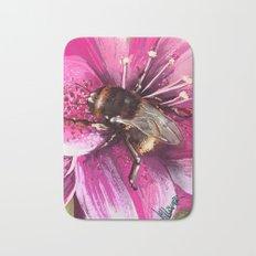 Bee on flower 13 Bath Mat