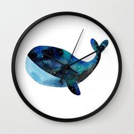 Galaxy whale Wall Clock