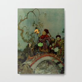"""""""In Search of a Nightingale"""" by Edmund Dulac Metal Print"""