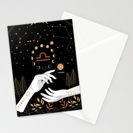 Libra Zodiac Theme Stationery Cards