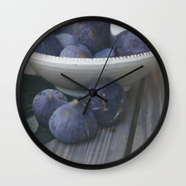 Fig Dish - Still Life - fine art Photography, hasselblad, fruit macro photo n° 1 Wall Clock