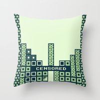 tetris Throw Pillows featuring tantric tetris. by dann matthews