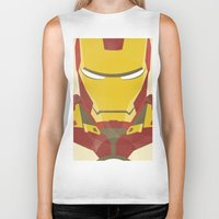 iron man Biker Tanks featuring IRON MAN by LindseyCowley