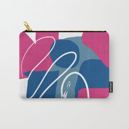 Shape Study in Blue and Pink Carry-All Pouch
