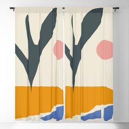 Floral Prints, Abstract Wall Art - Flower Meadow, Large Giclee Print from Painting, Wall Art, Abstra Blackout Curtain