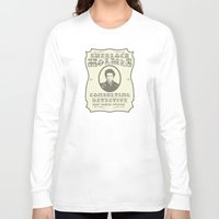 sherlock holmes Long Sleeve T-shirts featuring Sherlock Holmes by SuperEdu