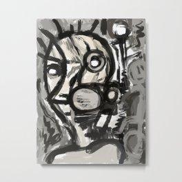 Grey Street art graffiti expressionist Metal Print
