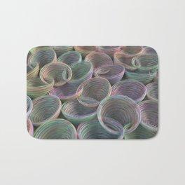 Colorful spiraled coils Bath Mat